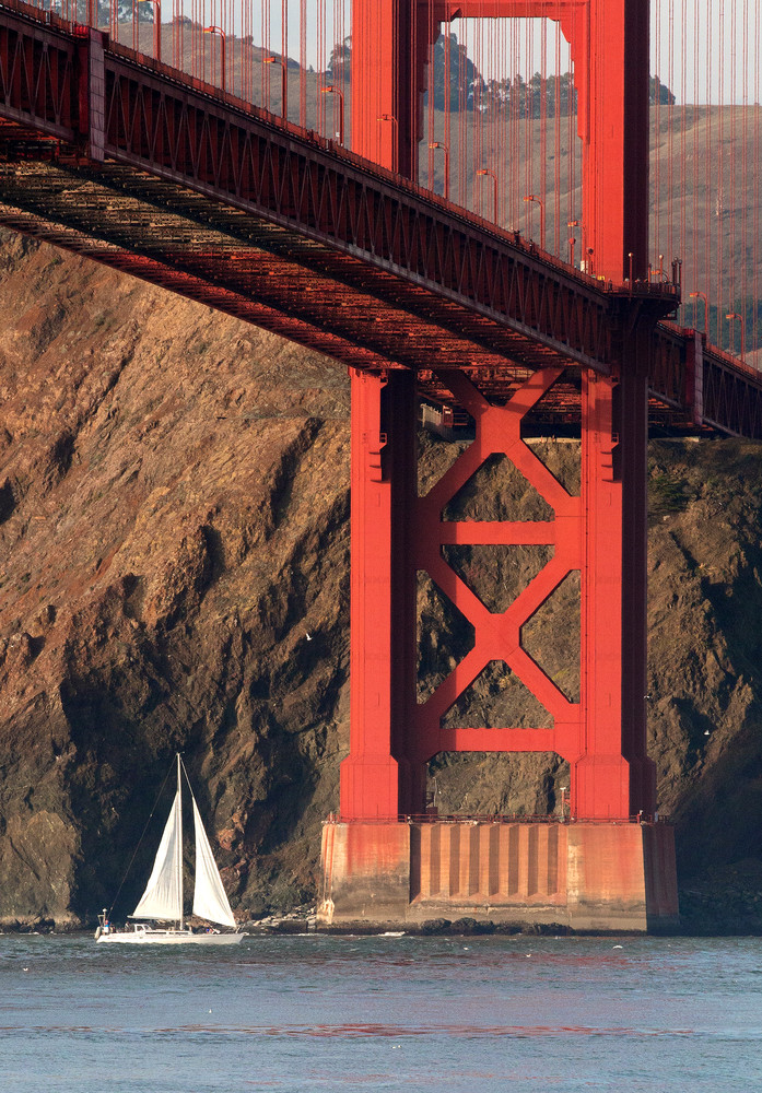 Sailboat & The Bridge by Josh Kimball Photography