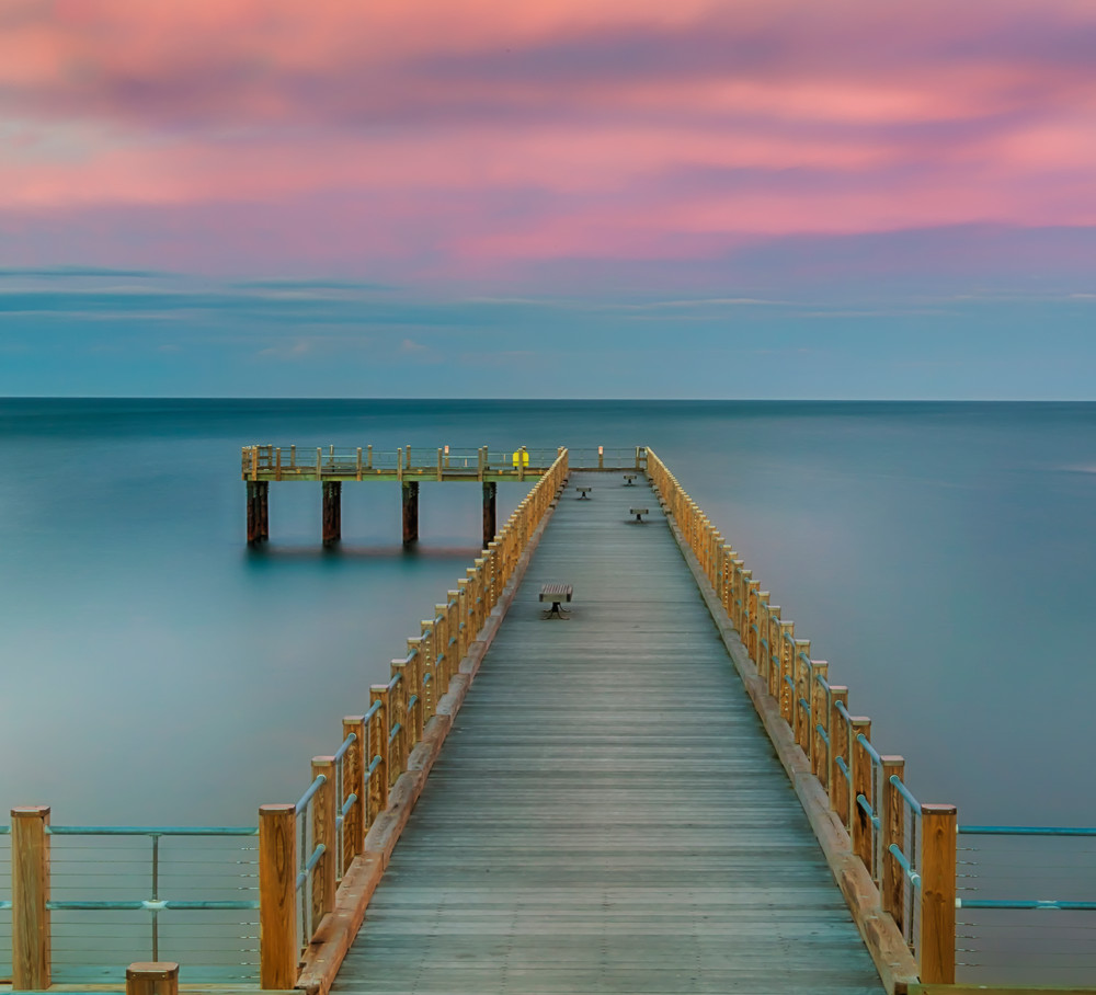Fishing Pier Magenta Sunset
