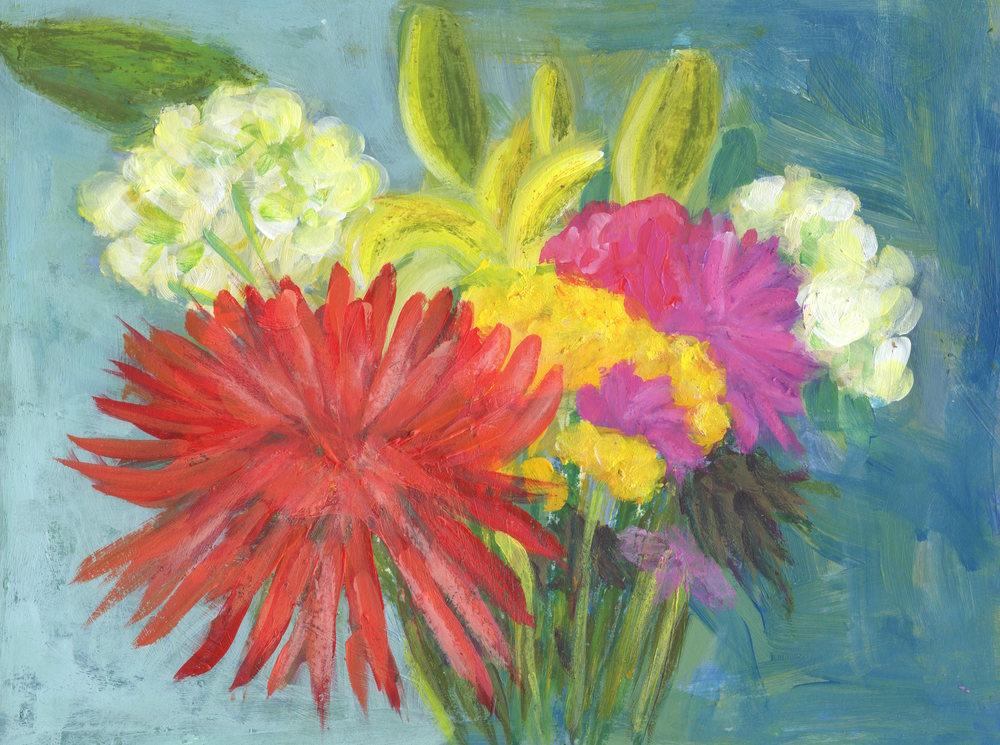 Birthday Flowers Art | Marcy Brennan Art