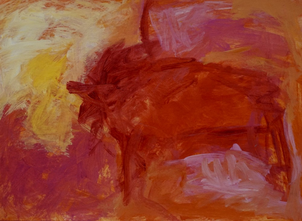 Southwest Heat 5   Cave Painting Art | Marcy Brennan Art