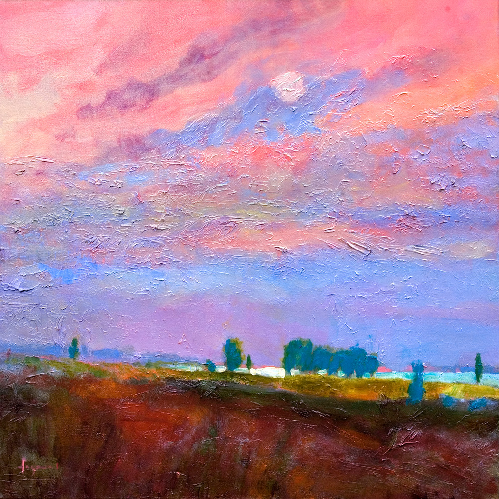 Beautiful Sunset Painting Fine Art Print by Dorothy Fagan