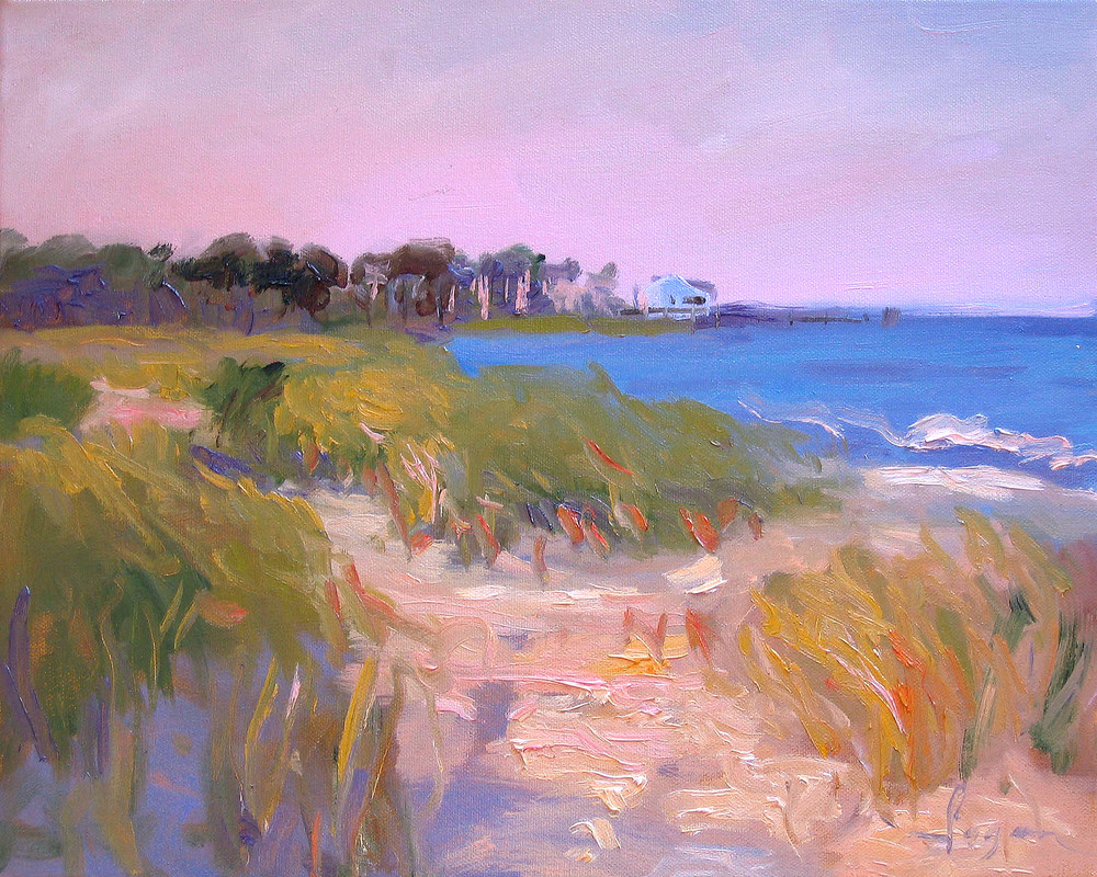 Beautiful Beach Painting Fine Art Print by Dorothy Fagan