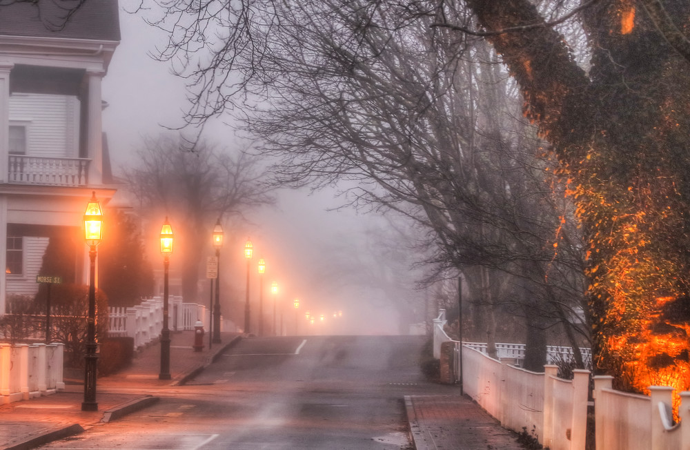 Edgartown North Water Street Fog