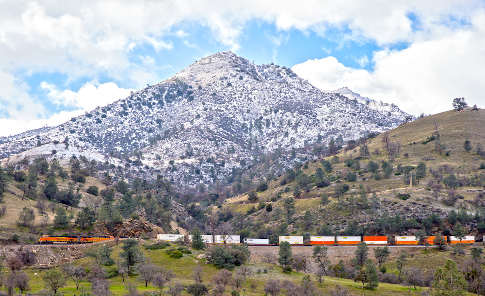 LATE WINTER TRAIN, TEHACHAPI MOUNTAINS