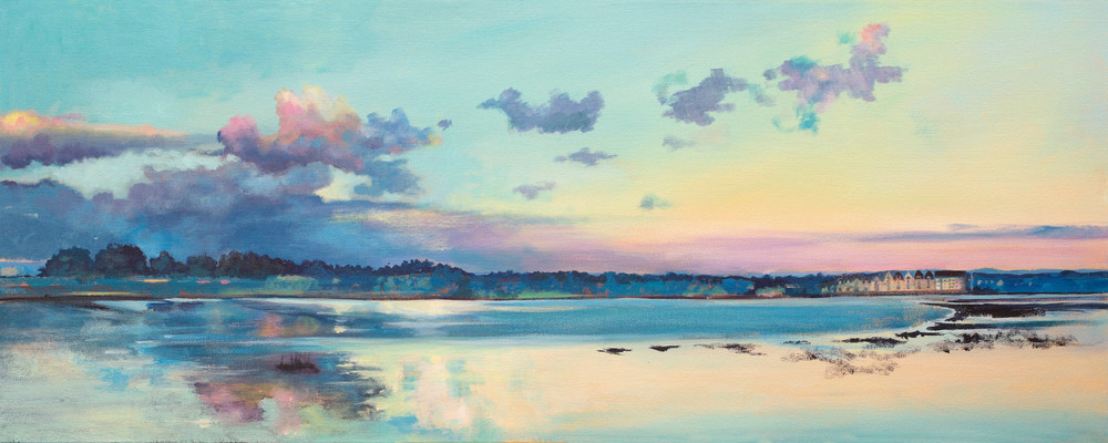 Sunset Salt Marsh Art Print
