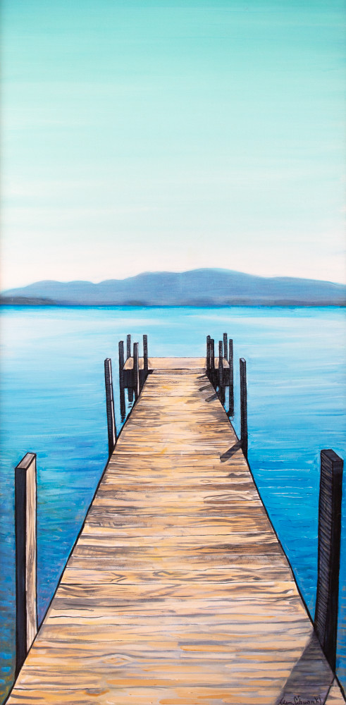 Dock On The Lake Art | Adam Schwankl