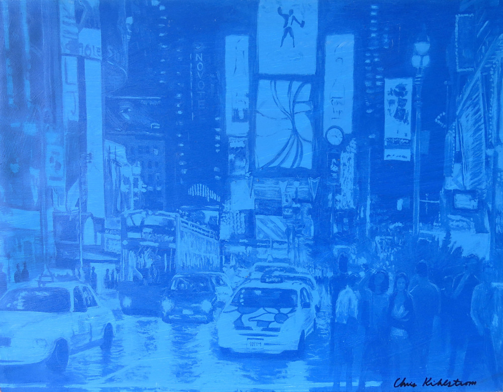 Times Square in Blue