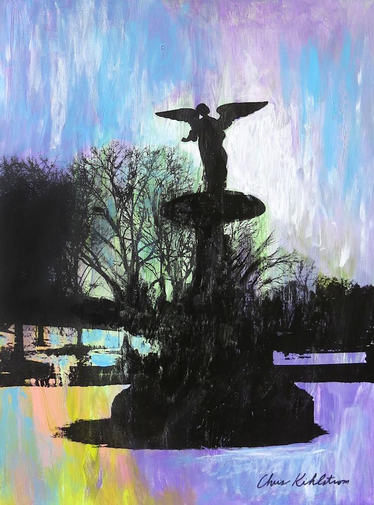 Bethesda Fountain Angel Art   kihlstromfineart