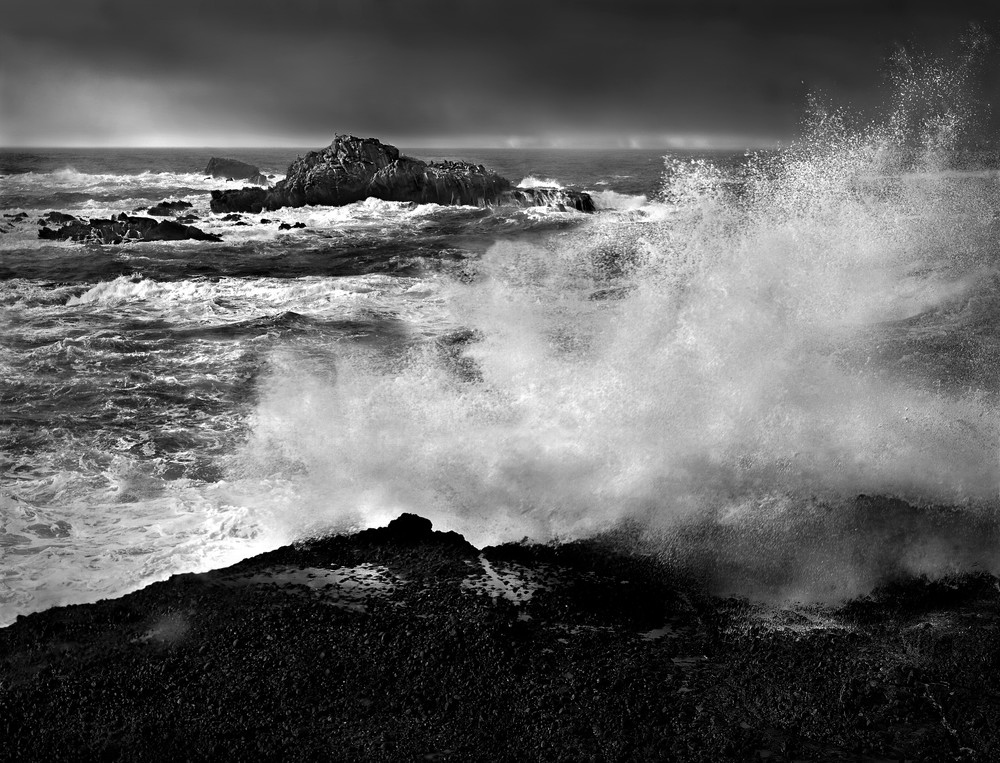 Serenity of water photograph, Crashing Wave at Point Lobos, by fine art photographer, David Zlotky