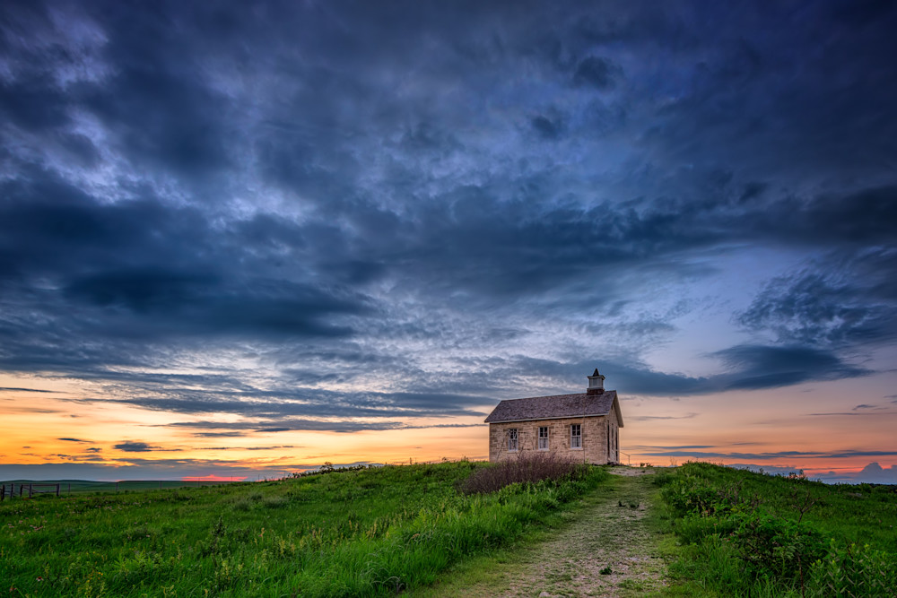 One Room Schoolhouse at Dusk | Shop Photography by Rick Berk