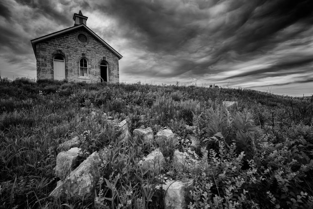 Lower Fox Creek Schoolhouse by Rick Berk
