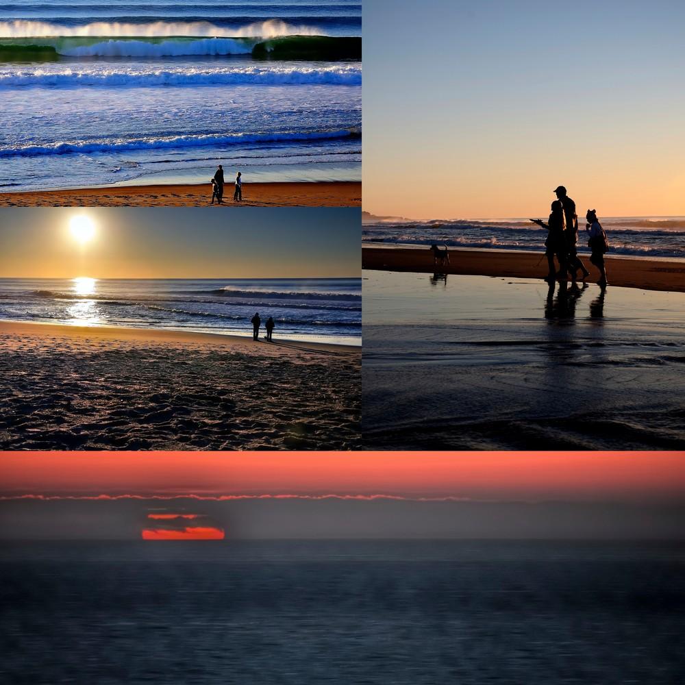 Coast Sunset Collage