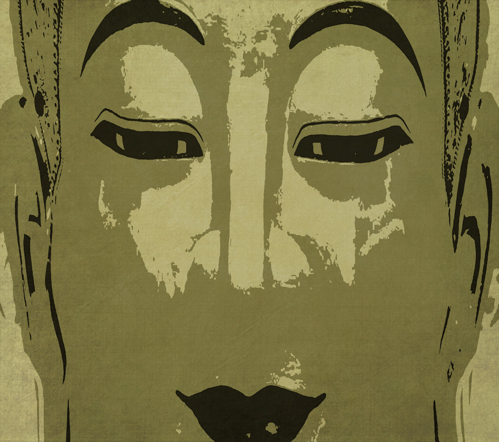 Buddha In Gold And Charcoal