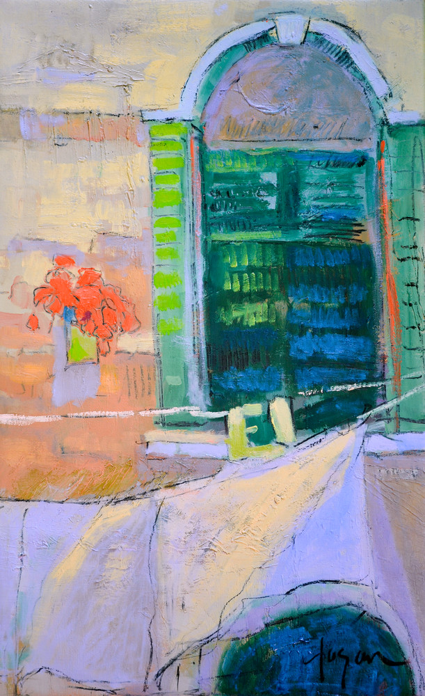 Venice Canal Scene Clothesline, Print Painting by Dorothy Fagan