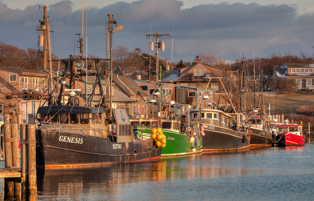 Menemsha Trawler Winter Sunset