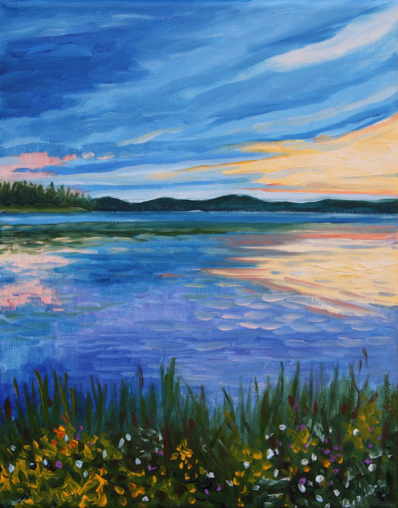 Sunset at Summer Lake Fine Art Print by Hilary J. England