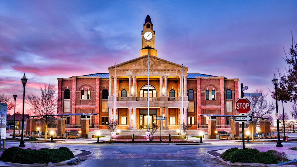 Roanoke Town Hall 8 Surrealistic Photography Art   Drone Video TX