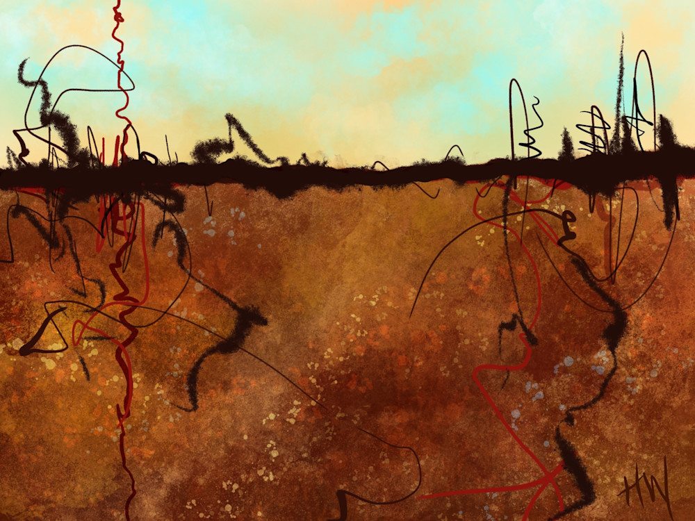 Earth And Sky digital painting abstract landscape