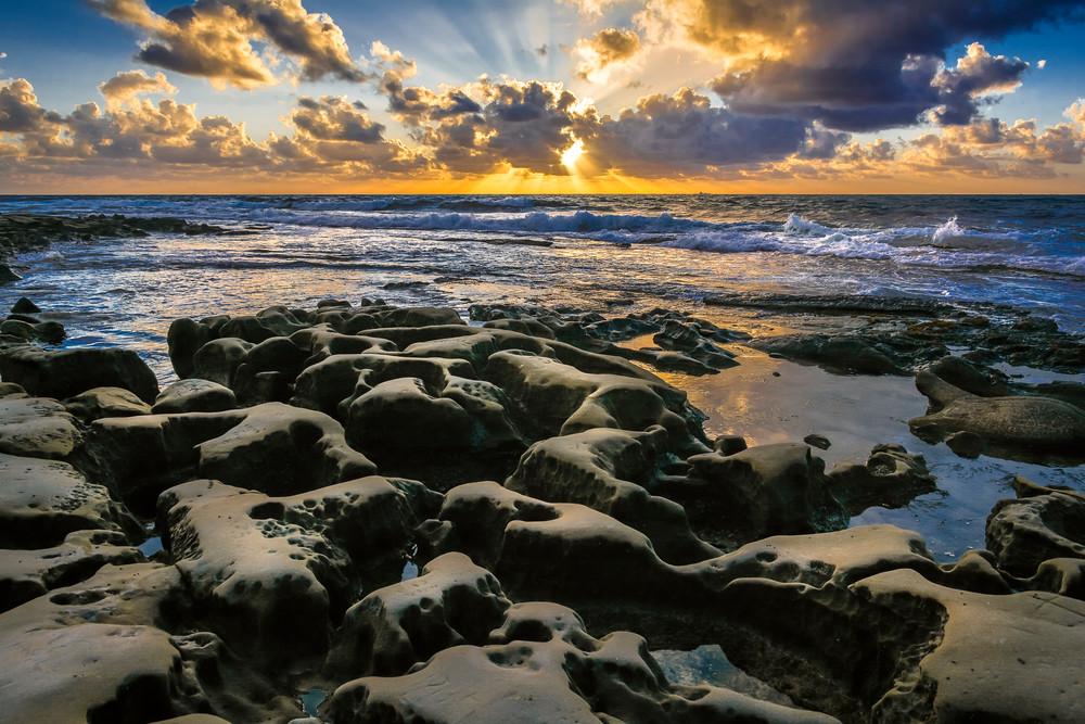 God's Rays sunset La Jolla California