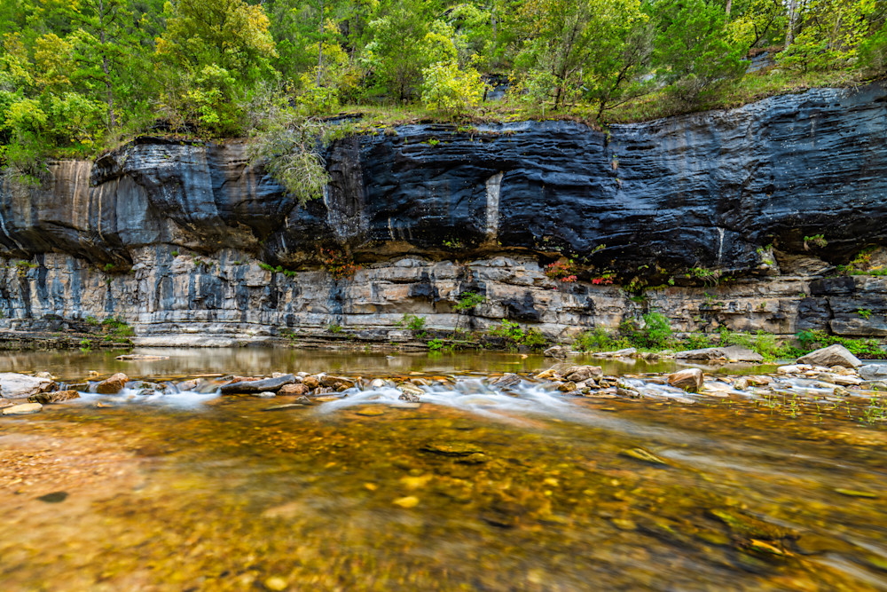 North Sylamore Creek bluff photography