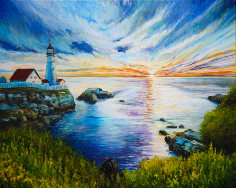 New England summer romantic fine art print