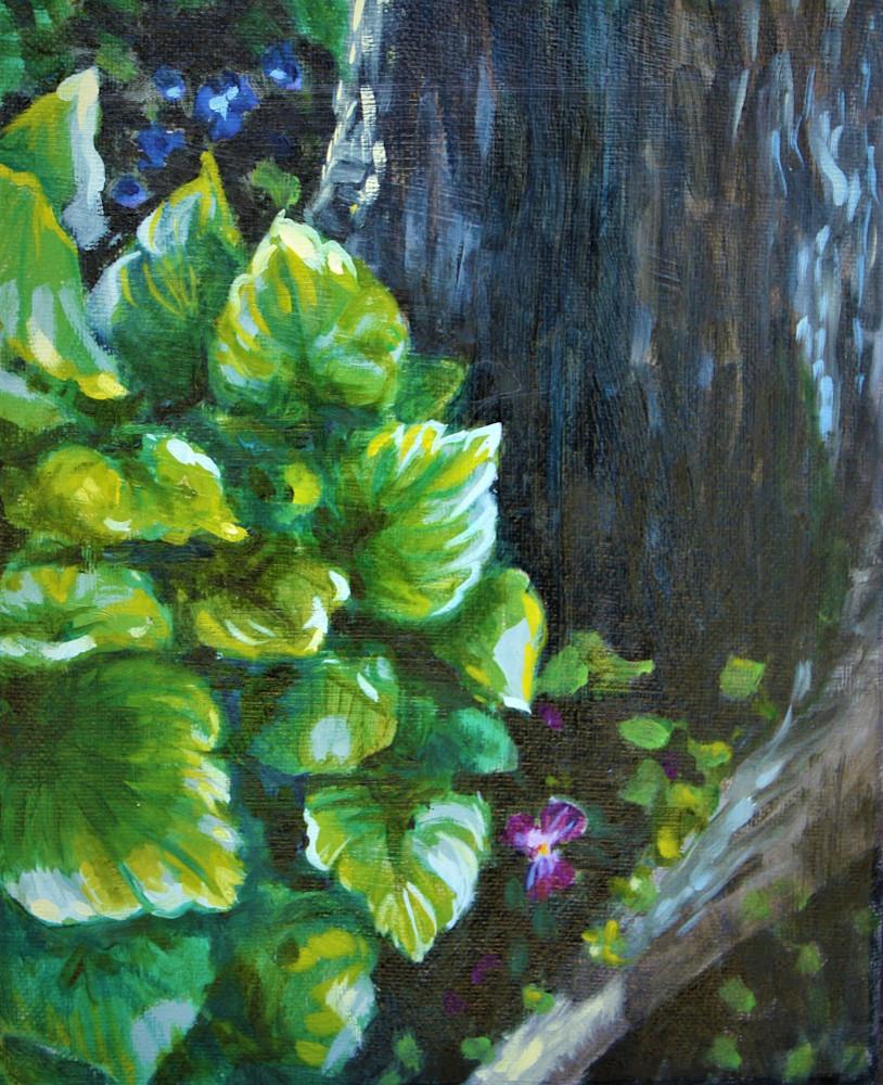 The purple pansy fine art print by Hilary J. England