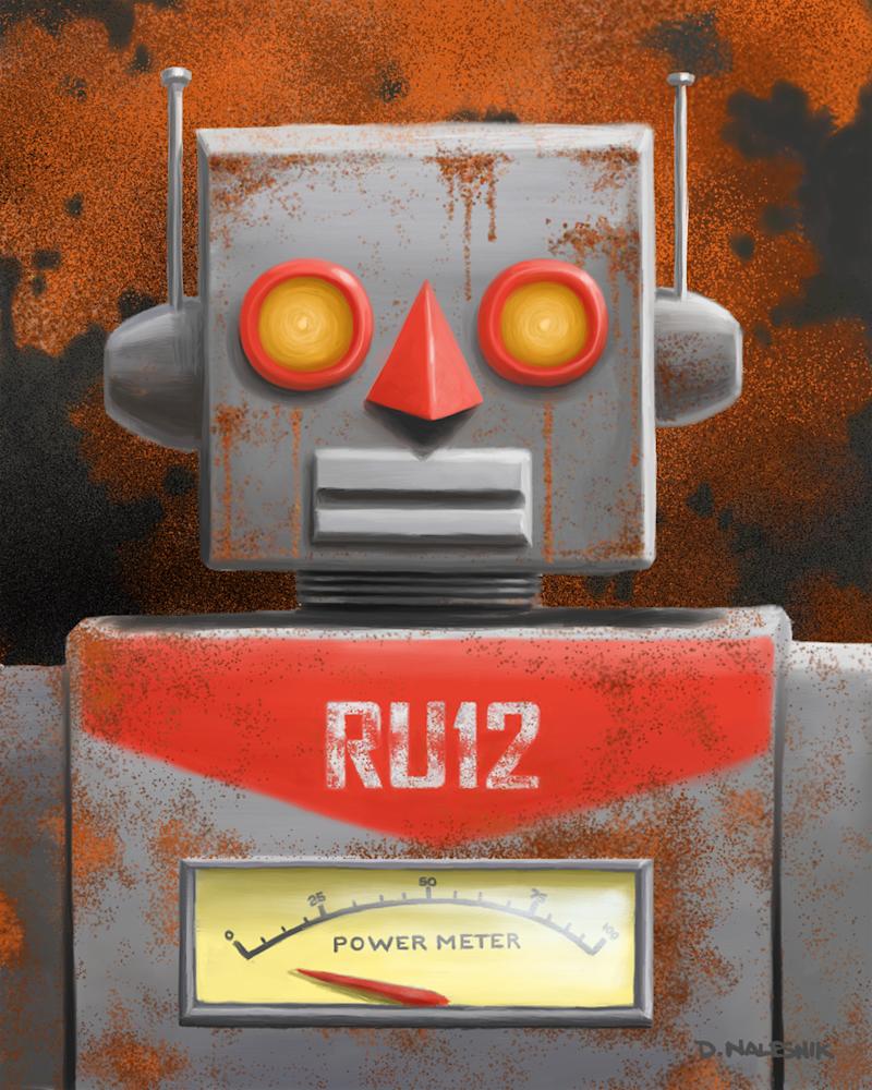 Rusted Robot Art | Davenik Art