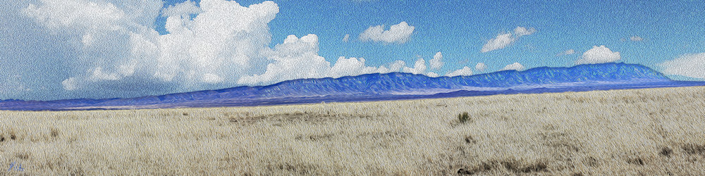 Oscura Mountains print of photographs taken near Bingham, New Mexico for sale as digital art by Maureen Wilks