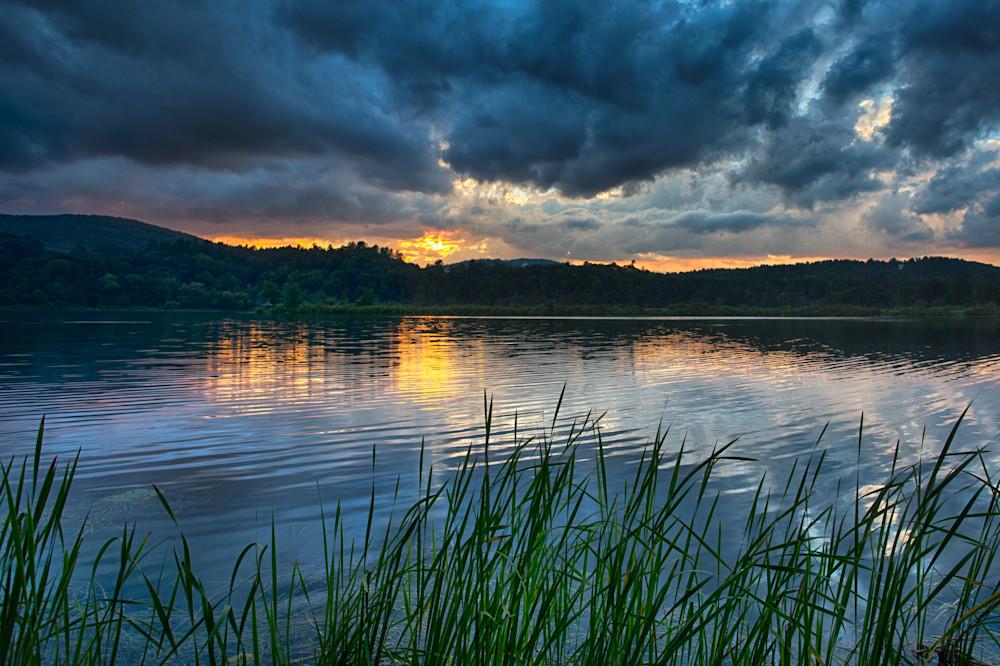 Thunderstorms As The Sun Dips Photography Art | Nathan Larson Photography, LLC