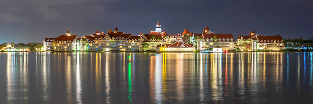 The Grand Floridian Reflection - Disney Framed Prints | William Drew