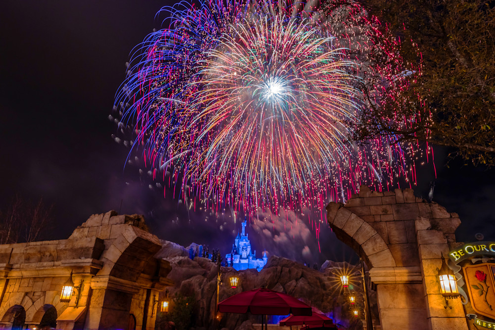 Be Our Guest Fireworks 5 - Fantasyland Photos | William Drew
