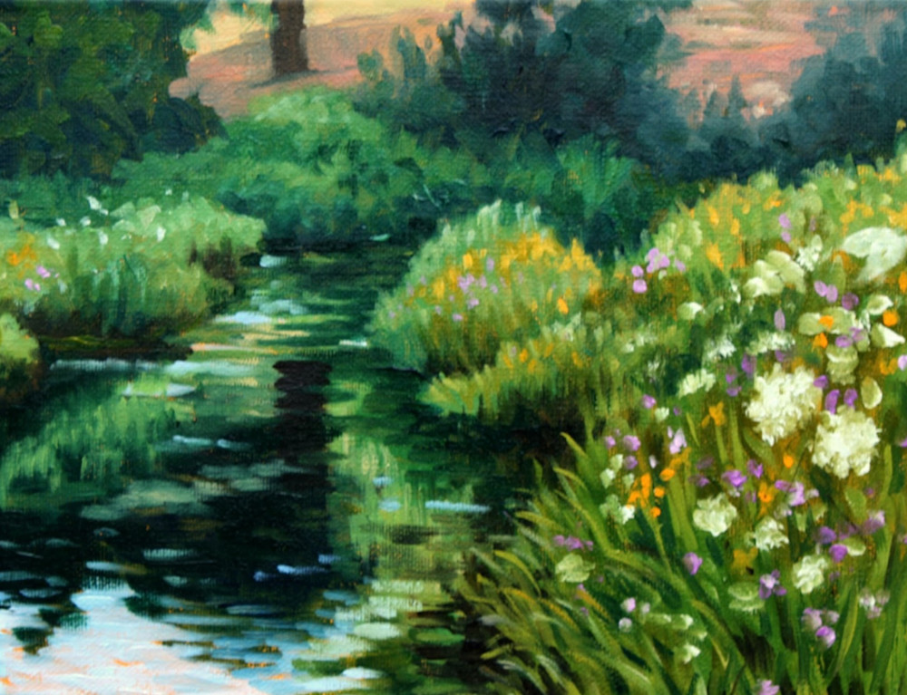 Summer Yarrow by the Creek Fine Art Print by Hilary J England