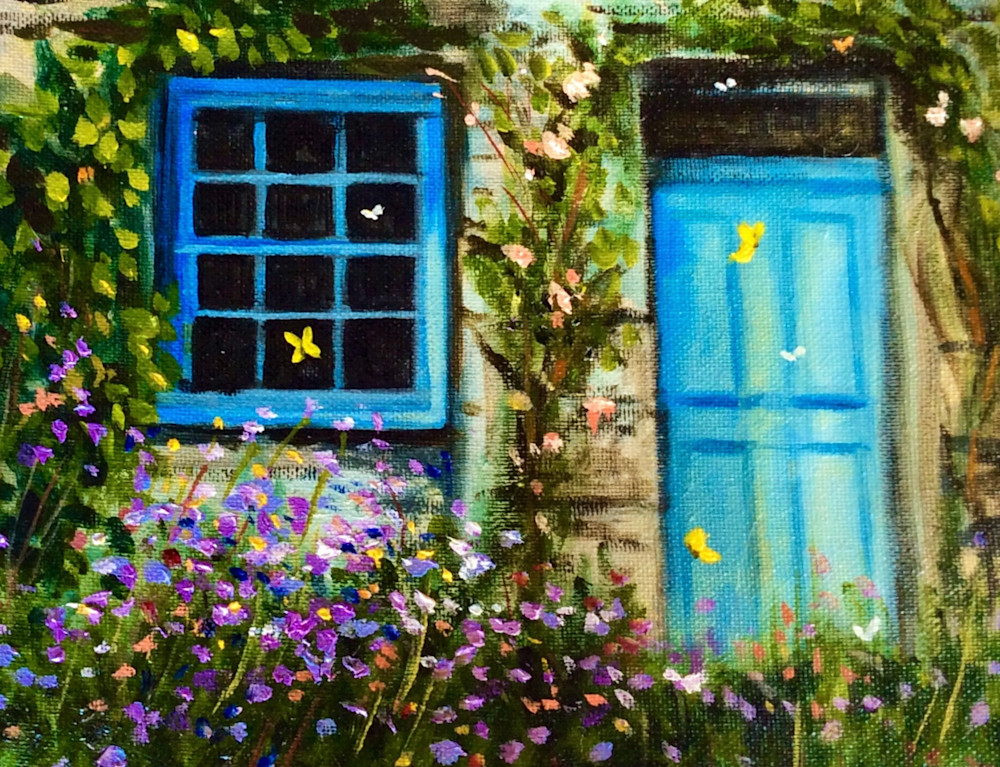The Enchanted Cottage Fine Art Open Edition Print by Hilary J. England