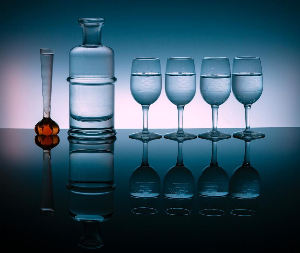 A Fine Art Photograph of Reflected Black Plexiglass Colors by Michael Pucciarelli