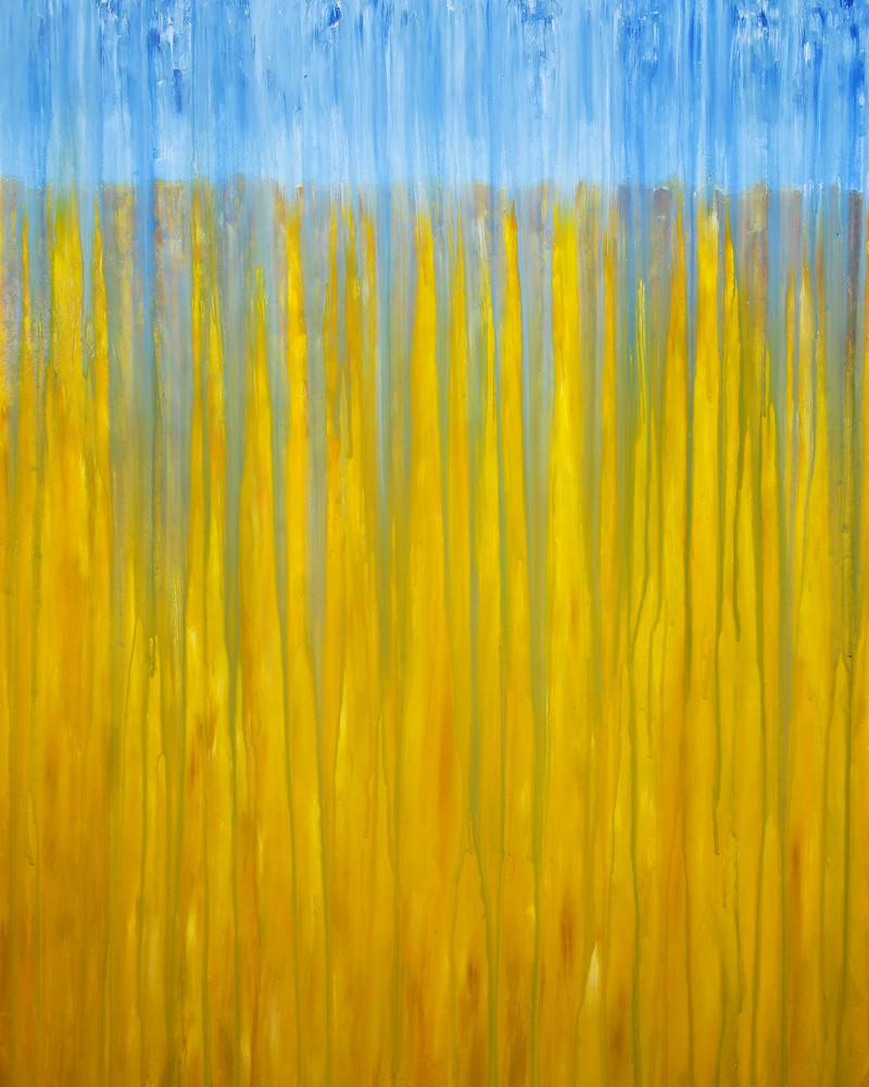 RainyMoment 10 - Field of Grain in Rain by Rachel Brask