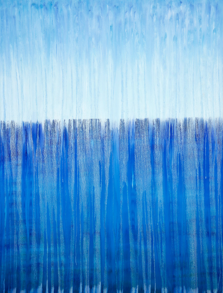 Rainy Moment 13 - Open Ocean Rain by Rachel Brask