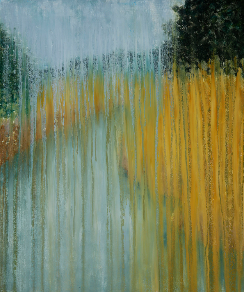 Palmett River Marsh In Rain By Rachel Brask Art | Rachel Brask Studio, LLC