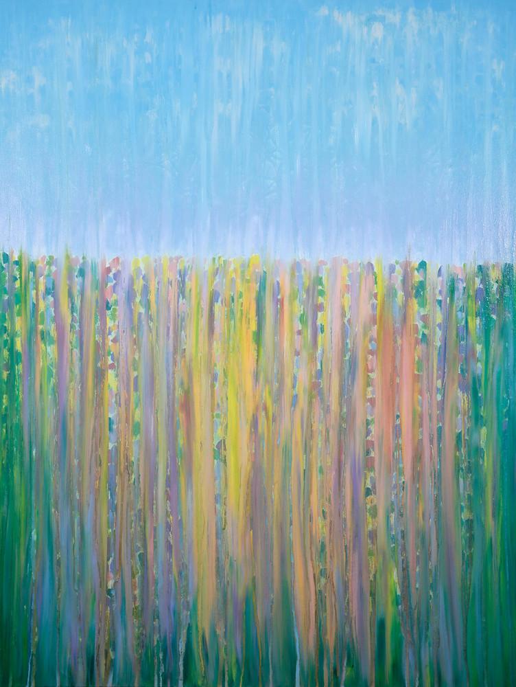 Rainy Moment 14   Late Spring Blossoms In Rain By Rachel Brask Art | Rachel Brask Studio, LLC