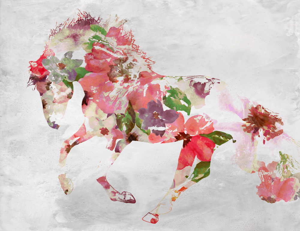 Beautiful Floral Horse 4 Art | Irena Orlov Art