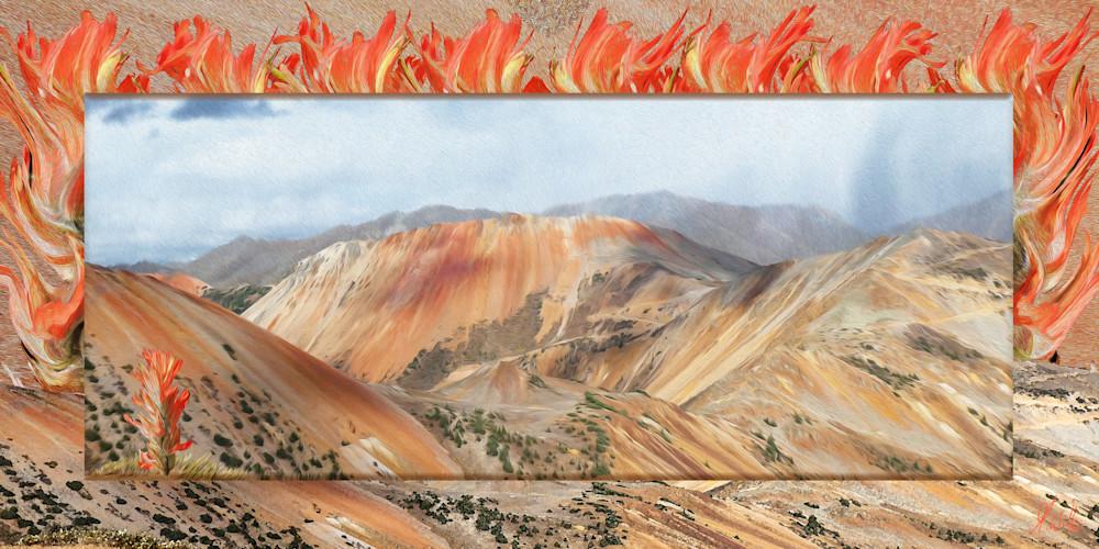 Storm over Corkscrew Pass print of photographs of Corkscrew pass transformed into digital art by Maureen Wilks