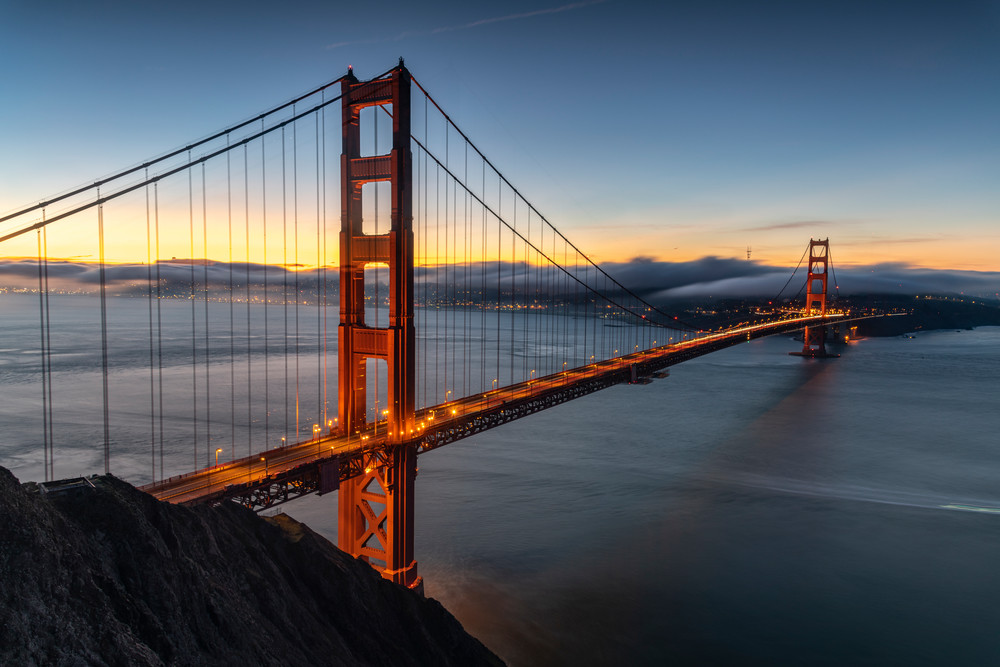Golden Gate At Dawn Photography Art | marcyephotography