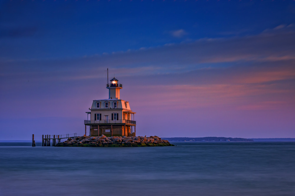 Dusk Falls on Bug Light by Rick Berk