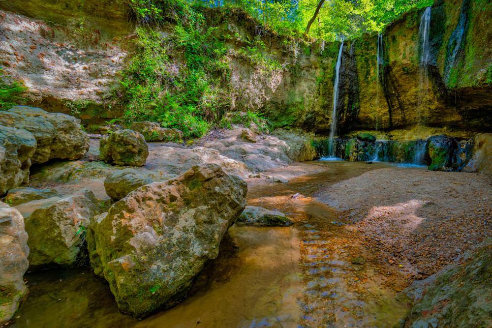 Tunica Hills waterfall photography