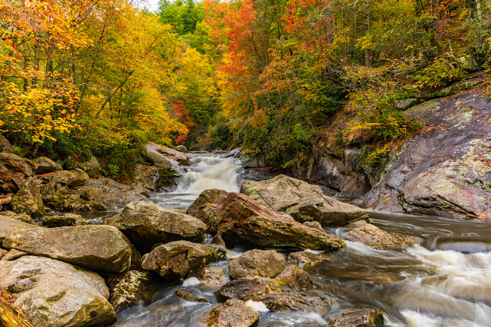 Autumn On The Cullasaja River Photography Art | Andy Crawford Photography - Fine-art photography