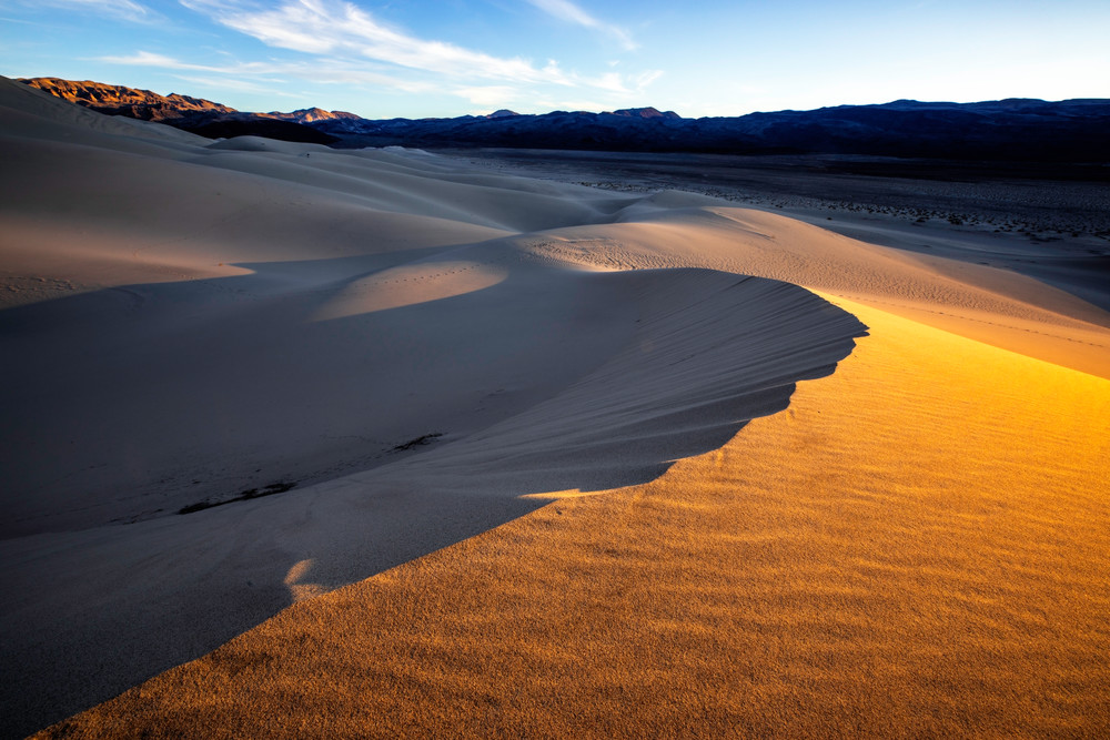 Beautiful Last Light on Eureka Dunes