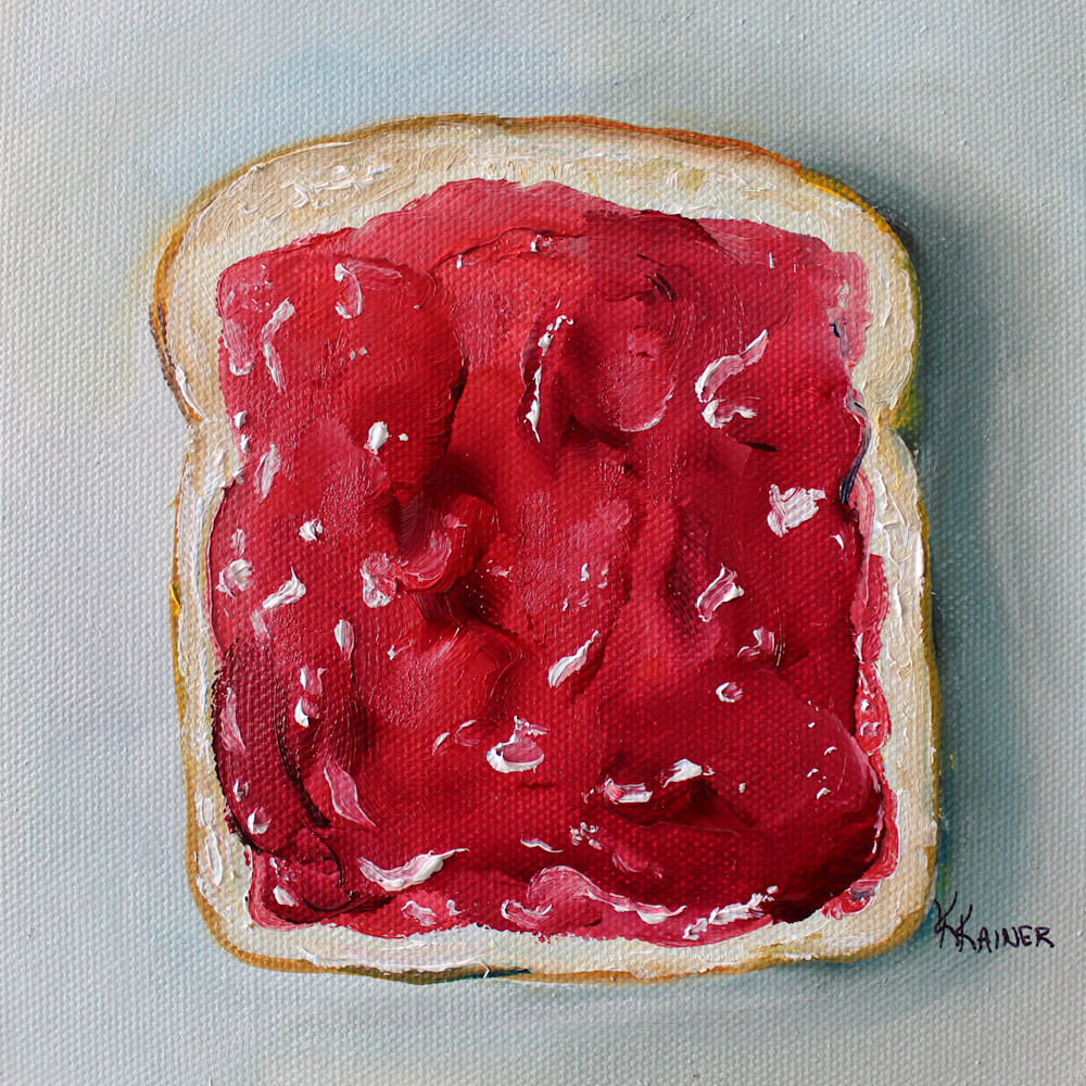 Strawberry Jelly on Bread