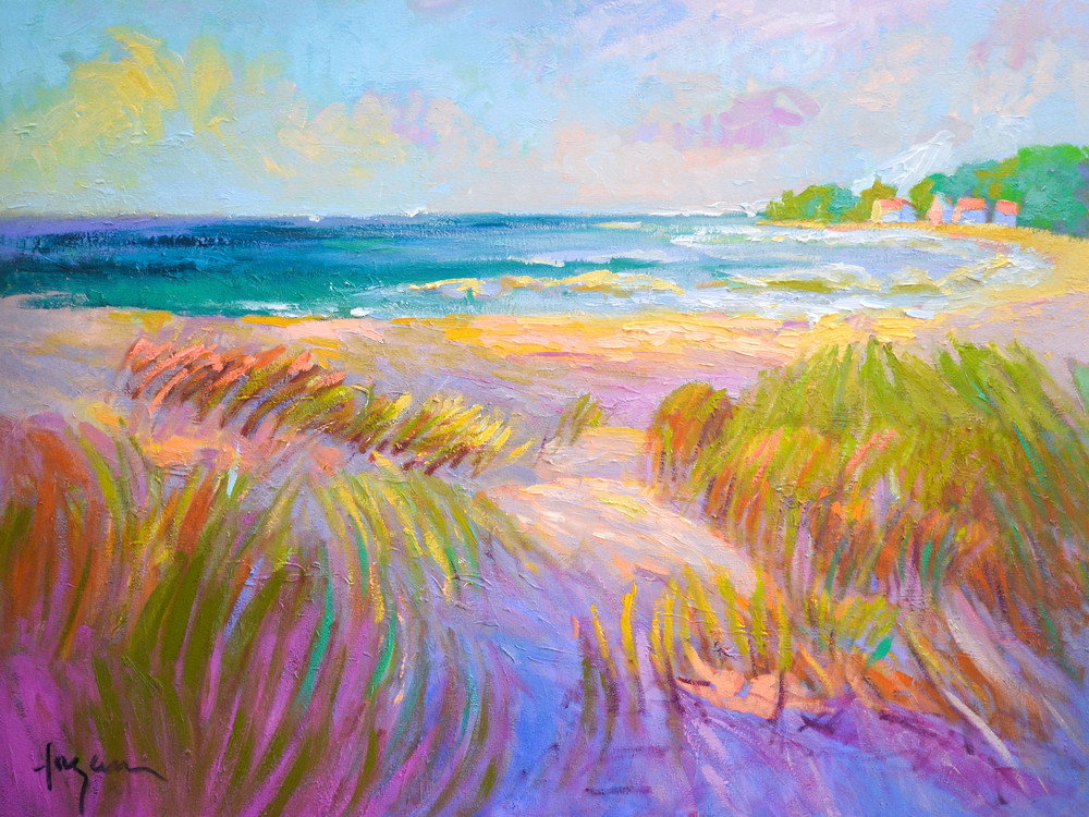 Beautiful Beach Painting Print Afternoon Delight by Dorothy Fagan