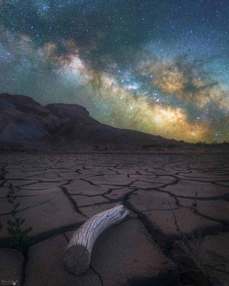 Mt Garfield Mud Crack Milky Way  Photography Art | Derrick Snider Imagery