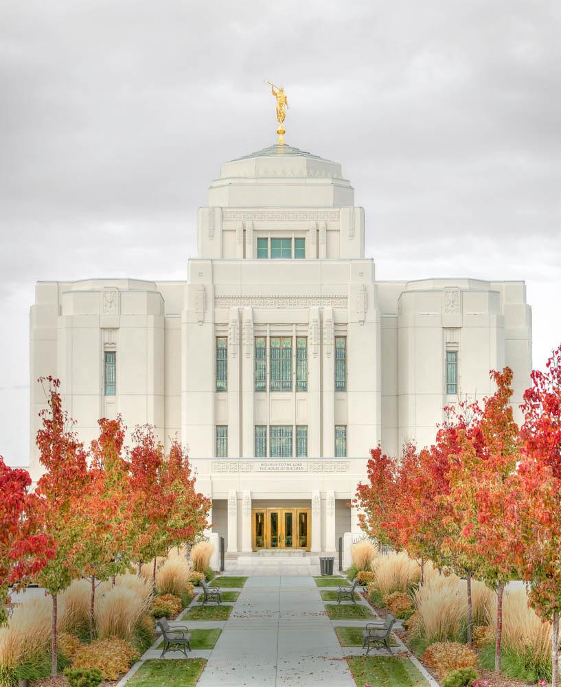 Meridian Temple - Autumn Walkway