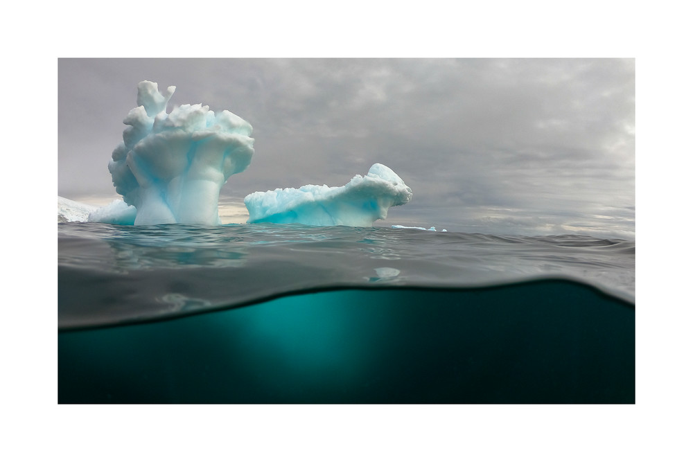 Photo of a Sculpted Iceberg.